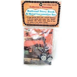 5/$20.  Railroad Story Book & Tiny Locomotive